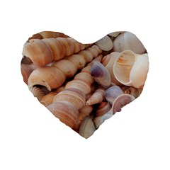 Sea Shells Standard 16  Premium Heart Shape Cushion