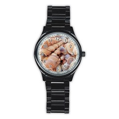 Sea Shells Sport Metal Watch (Black)