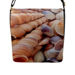 Sea Shells Flap Closure Messenger Bag (Large)