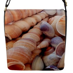 Sea Shells Flap Closure Messenger Bag (Small)