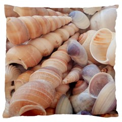 Sea Shells Large Flano Cushion Case (One Side)