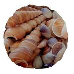 Sea Shells Large 18  Premium Flano Round Cushion