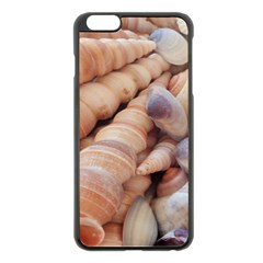 Sea Shells Apple iPhone 6 Plus Black Enamel Case