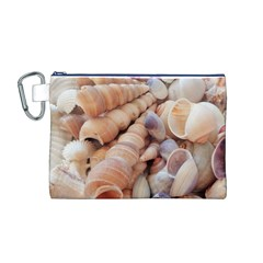 Sea Shells Canvas Cosmetic Bag (medium)