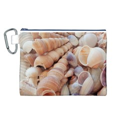 Sea Shells Canvas Cosmetic Bag (Large)