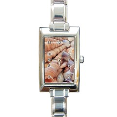 Sea Shells Rectangular Italian Charm Watch