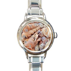 Sea Shells Round Italian Charm Watch