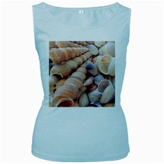 Sea Shells Women s Tank Top (Baby Blue)