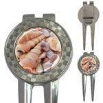 Sea Shells Golf Pitchfork & Ball Marker Front