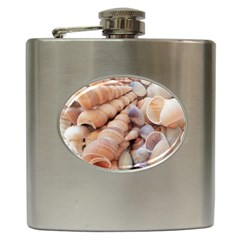Sea Shells Hip Flask