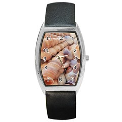 Sea Shells Tonneau Leather Watch