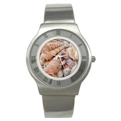 Sea Shells Stainless Steel Watch (Slim)