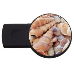 Sea Shells 4gb Usb Flash Drive (round)