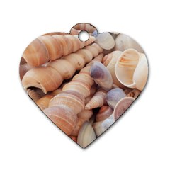 Sea Shells Dog Tag Heart (Two Sided)
