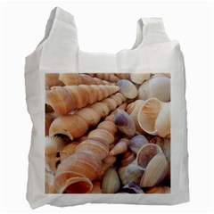 Sea Shells White Reusable Bag (Two Sides)