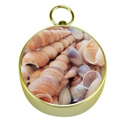 Sea Shells Gold Compass