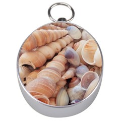 Sea Shells Silver Compass
