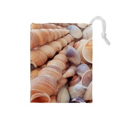 Sea Shells Drawstring Pouch (Medium)