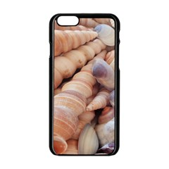 Sea Shells Apple iPhone 6 Black Enamel Case