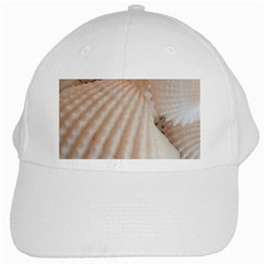 Sunny White Seashells White Baseball Cap