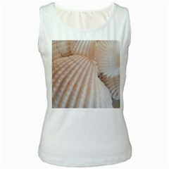 Sunny White Seashells Women s Tank Top (white)