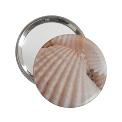 Sunny White Seashells Handbag Mirror (2 25 )