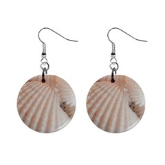 Sunny White Seashells Mini Button Earrings