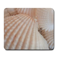 Sunny White Seashells Large Mouse Pad (rectangle)