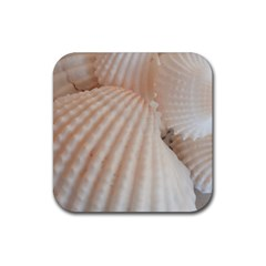 Sunny White Seashells Drink Coaster (Square)