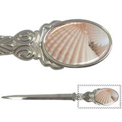 Sunny White Seashells Letter Opener