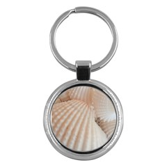 Sunny White Seashells Key Chain (Round)