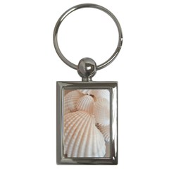 Sunny White Seashells Key Chain (Rectangle)