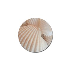 Sunny White Seashells Golf Ball Marker 4 Pack