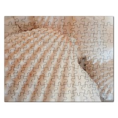 Sunny White Seashells Jigsaw Puzzle (rectangle)