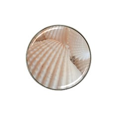 Sunny White Seashells Golf Ball Marker 4 Pack (for Hat Clip)