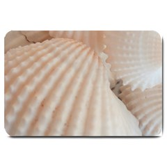 Sunny White Seashells Large Door Mat