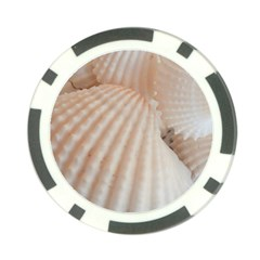 Sunny White Seashells Poker Chip