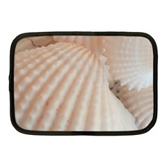 Sunny White Seashells Netbook Sleeve (Medium)