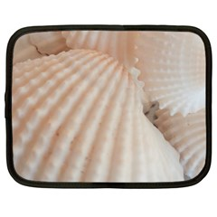 Sunny White Seashells Netbook Sleeve (Large)
