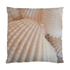 Sunny White Seashells Cushion Case (Single Sided)
