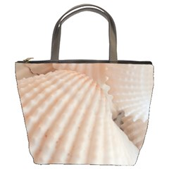Sunny White Seashells Bucket Handbag