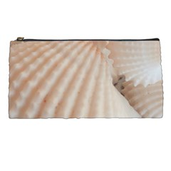 Sunny White Seashells Pencil Case