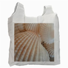 Sunny White Seashells White Reusable Bag (Two Sides)