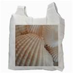 Sunny White Seashells White Reusable Bag (Two Sides) Back