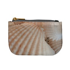 Sunny White Seashells Coin Change Purse