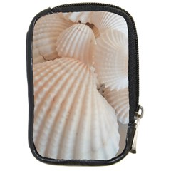 Sunny White Seashells Compact Camera Leather Case