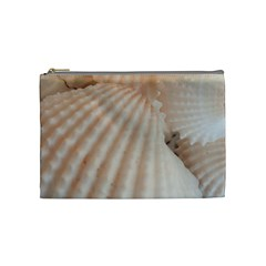 Sunny White Seashells Cosmetic Bag (Medium)