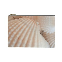 Sunny White Seashells Cosmetic Bag (Large)
