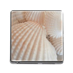 Sunny White Seashells Memory Card Reader with Storage (Square)