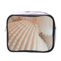 Sunny White Seashells Mini Travel Toiletry Bag (One Side)